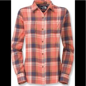 THE NORTH FACE Plaid Flannel Shirt Women's SMALL